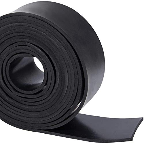 Solid Neoprene Rubber Strips Roll 1/8 (.125) inch Thick X 2 inch Wide X 10 Feet, for DIY Weather Stripping, Gasket, Seal