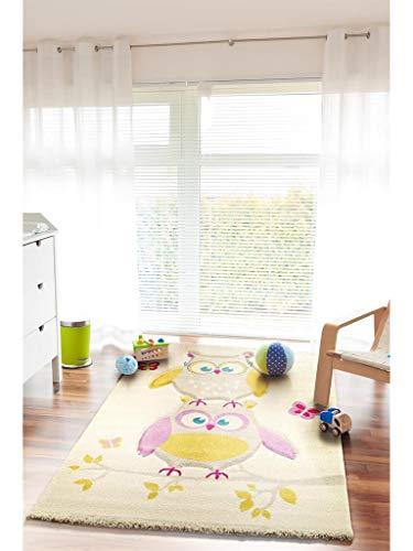 Kinderteppich Eule und Schmetterlinge - 2