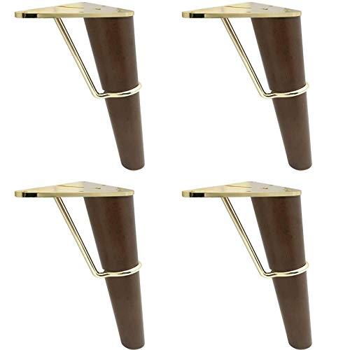 Pies inclinados para muebles de madera maciza, patas de repuesto para sofá/silla, patas de mesa de centro de metal, patas de gabinete de escritorio
