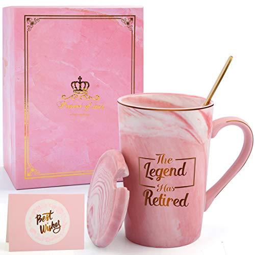 Retirement Gifts for Women Men -The Legend Has Retired Coffee Mug...