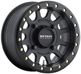 4/156 Method Race Wheels 401 Beadlock Wheel 14x7 5.0 + 2.0 Matte Black for Polaris RANGER RZR XP 1000 2014-2018