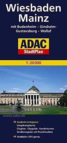 Mainz, Wiesbaden, GPS-genau (ADAC Stadtpläne)