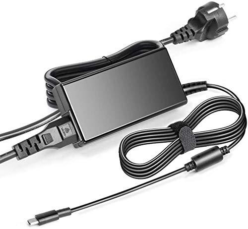 KFD 45W USB-C AC Adapter Laptop Ladegerät Netzteil für HP Pavillion X2 HP Spectre x360 13, Lenovo Yoga 720 910 910-13IKB ThinkPad X1 Yoga5 Pro, Miix 720-12IKB, Dell XPS12 XPS13 Asus ZenBook 3 UX390