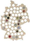 LAUBLUST Bierkarte im Deutschland-Karte Design | 44x33cm | Kronkorken-Sammler Deutschland-Fahne -...