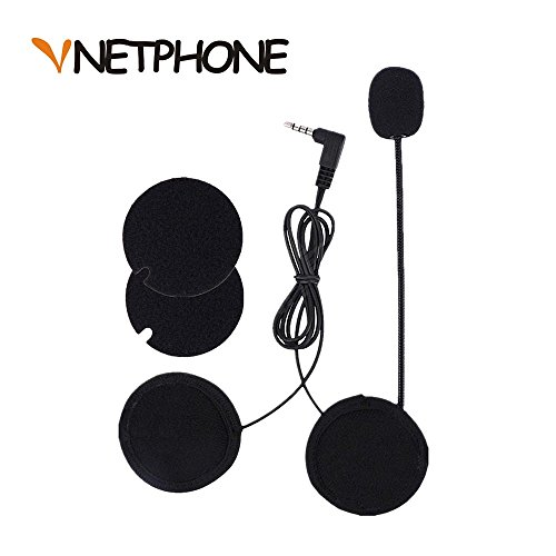 VNETPHONE® Micrófono Auriculares para V6 Motocicleta Casco Bluetooth Intercomunicador Interphone
