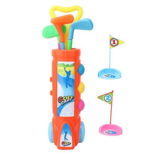 Juego de palos de golf para niños, juego de palos de golf para niños, carrito de golf, juego de pelota de golf para niños pequeños, juguetes deportivos, regalo, agujeros de práctica, divertido juego d