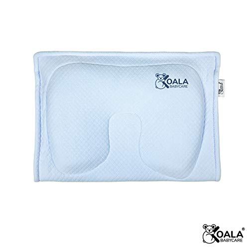 Koala Babycare® Cuscino Allattamento in memory foam per la prevenzione e cura della Plagiocefalia (Testa piatta) sfoderabile (con 2 federe) – Koala Perfect Head Breastfeeding (Blu)