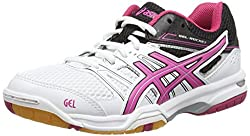 Asics Gel-rocket 7, Women's Volleyball Shoes, Red (flash Coral / silver / darkberry 0693), 42 EU