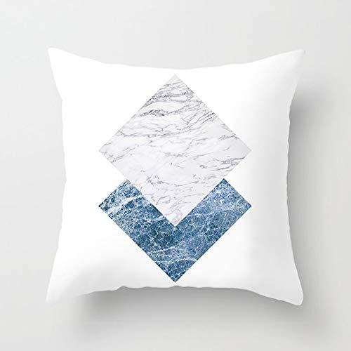 PPMP Teal Glitter Throw Kissenbezug Round Painting Diamond Geometric Kissenbezug Home Sofa Chair Dekorative Kissenbezug A5 45x45cm 1pc