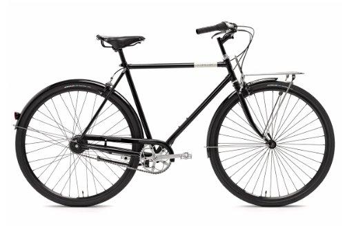 Creme Herren Citybike Caferacer Doppio 7 Gang, black, Rahmenhöhe: 55 centimeters, Reifengröße: 28 Zoll (74 cm), BI-CRE-2106_1_55