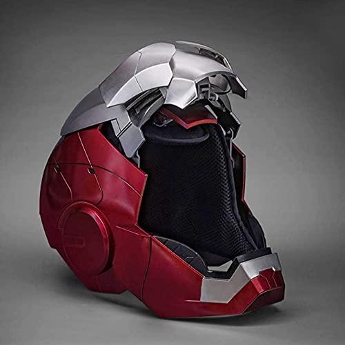 WXHJM 1: 1 Casco Iron Man,AUTOKING Vengadores Película Role-Playing Los Trajes de Halloween Casco Máscara de La Cara Llena Eléctrico Cascos,Metallic,One Size,MK5