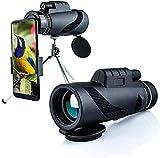 Telescopio monocular 40X60 para Adultos Monocular Impermeable para observación de Aves Deportes, Monocular con Lente BAK4 FMC