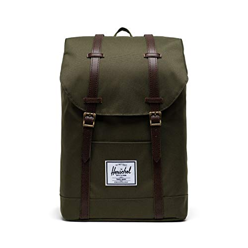 Herschel Retreat Backpack, Ivy Green/Chicory Coffee, Classic 19.5L