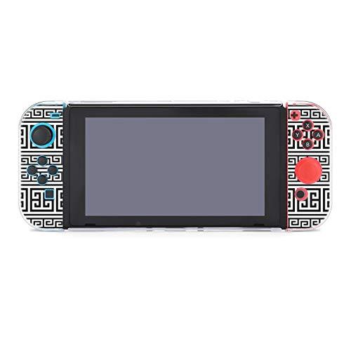 Schutzhülle für Nintendo Switch, Retro-Stil, griechische Tastatur, strapazierfähige Schutzhülle für Nintendo Switch und Joy Con