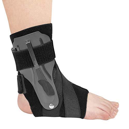 Tobillera deportiva de compresión reforzada, tobillera de compresión reforzada, tobillera para rehabilitación de fracturas masculinas y femeninas (individual)