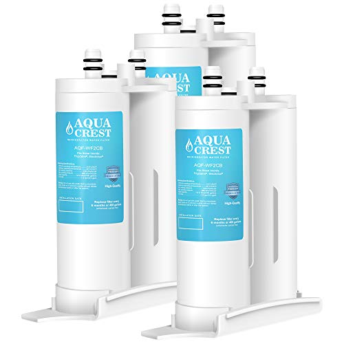 AQUACREST Replacement for WF2CB, PureSource2, NGFC2000, FC100, 1004-42-FA, Kenmore 9916, 469911, 469916 Refrigerator Water Filter, Pack of 3