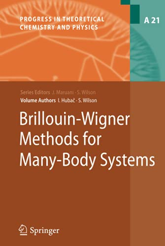 Brillouin-Wigner Methods for Many-Body Systems (Progress in Theoretical Chemistry and Physics, 21, Band 21)