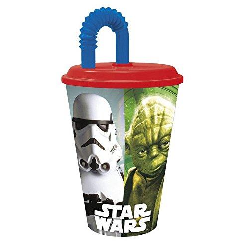 Gobelet + paille Star Wars Disney verre plastique