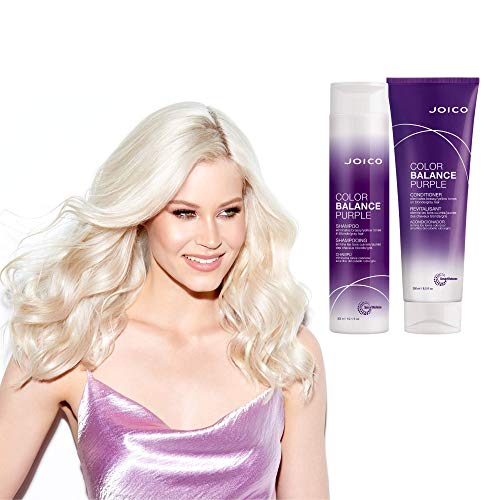 Joico Color Balance Purple Shampoo | Eliminate Brassy and Yellow tones | Repair and Protect Color-Treated Hair | For Cool Blonde or Gray Hair
