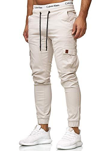 OneRedox Herren Chino Pants | Jeans | Skinny Fit | Modell 3301 Altweiss 31