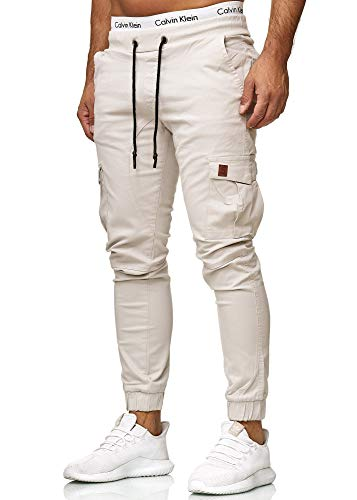 OneRedox Herren Chino Pants | Jeans | Skinny Fit | Modell 3301 Altweiss 31