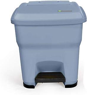Poubelle à la maison Poubelle extérieure, grand type de pédale avec couvercle Poubelle compacte pour poubelle (Color : Gra...