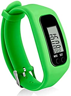 Bomxy Fitness Tracker Watch, Simply Operation Walking Running Pedometer with Calorie Burning and Steps Counting(Green)