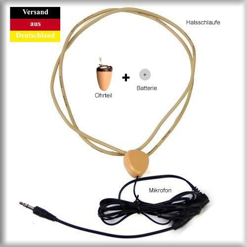 Spionage Kopfhörer Spy unsichtbares Headset Komplett Set by HYARI®