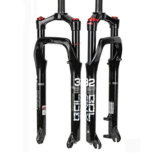 Bike Air Fat Fork- Snow Fat MTB Fork Travel 100MM Aluminum-Alloy Material Fit 4.0' Tire Mountain Bike