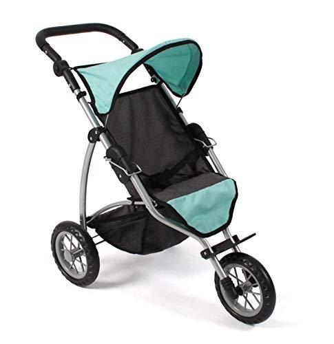 Bayer Chic 2000 613 42 Jogging Buggy Leon, Puppenbuggy für Baby-Puppen bis 50 cm, Puppenwagen, Melange Mint