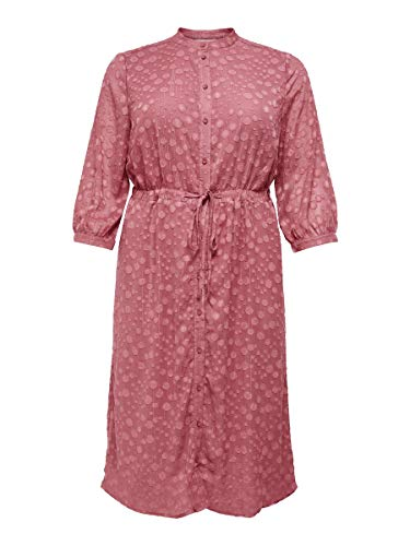 ONLY Carmakoma womens, Dress, Rosa (Withered Rose), 48