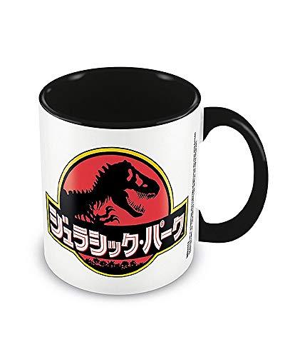 Jurassic Park MGC25522 - Taza de cerámica (315 ml), diseño de texto japonés
