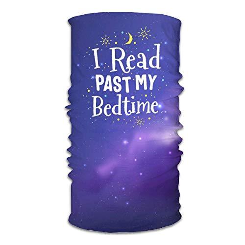 N/W Leer un libro de la mía antes de la cama a prueba de polvo bufanda de deporte para al aire libre headwear bufanda