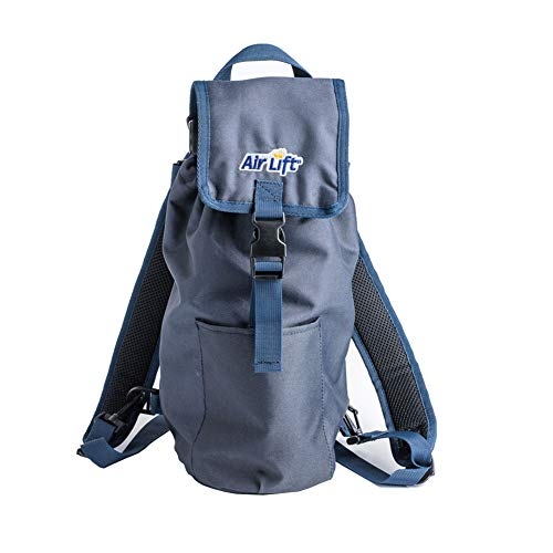 Roscoe Medical 24N Oxygen Cylinder Fanny Pack/Shoulder Bag for M6, M9/C Oxygen Cylinders, Navy Blue