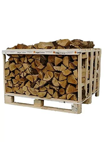 Classic Crate 1M3 400KG of Kiln Dried Firewood Oak Logs for Outdoor Fire Pit, Chiminea, Log Burner & Pizza Oven. Ready to Burn Fire Logs.