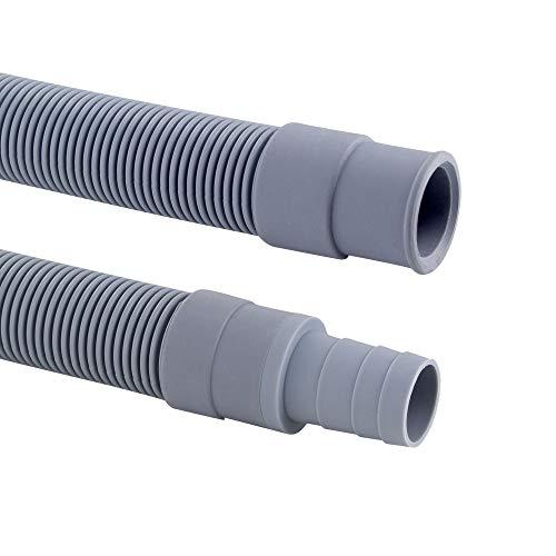 DL-pro 1,5m Ablaufschlauch Verlängerung Ø 19mm Universal Abwasserschlauch -20° bis +90° C Waschmaschineschlauch Schlauch Wasserschlauch für Waschmaschine Spülmaschine Geschirrspüler