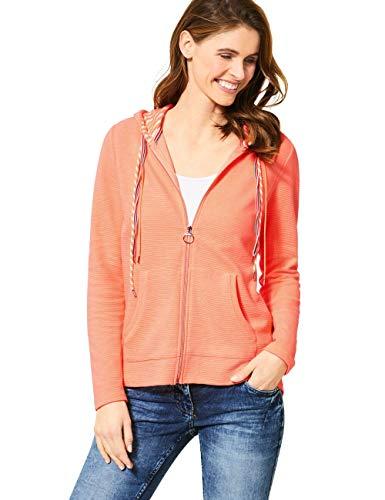 Cecil Damen 314694 Strickjacke, neon Cantaloupe orange, Large