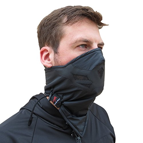 Half Face Mask for Cold Winter Weather. Use this Half Balaclava for Snowboarding, Ski, Motorcycle. (Many Colors)(Black)