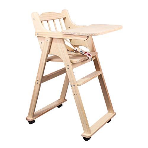 en Bois Chaises Hautes Chaise de Salle à Manger pour bébé Siège bébé Table à Manger Tabouret Bébé Chaise de Salle à Manger pour Enfants Portable Multifonctionnel Chaise téléscopique pour Enfants
