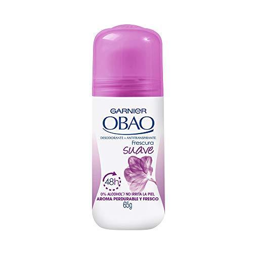 (Pack of 4) Garnier OBAO for Women, 48 Hour Roll on Deodorant & Antiperspirant, Soft Freshness, 65 g each by Garnier OBOA by Garnier OBOA