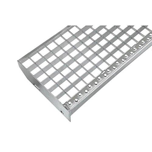 Einpress Treppenstufe EP Stufe Tritt Gitterroststufe 30x30 mm (800 x 270 mm)