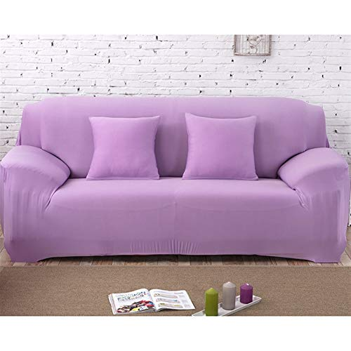 Cubierta de sofá liso elástica de la cubierta de la cubierta ajustada de la cubierta del sofá todo incluido para la sala de estar con la cubierta de la cubierta del sofá de la funda cubierta de sillón