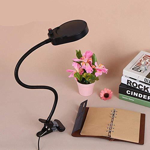Yanzz - Lupa de mesa con luz regulable, brillo regulable, flexible y portátil, lámpara de escritorio para impresión de lectura dsfhsfd