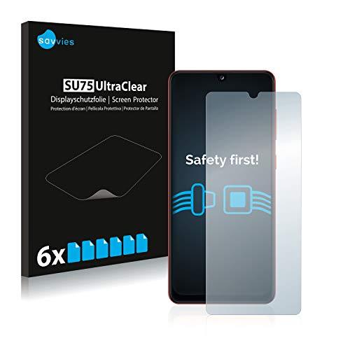 Savvies 6X Schutzfolie kompatibel mit Samsung Galaxy A31 Displayschutz-Folie Ultra-transparent