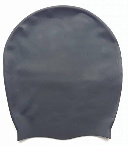 Dreadlab – Extra Large Bonnet de bain (Noir uni – sans logo) dreadlocks/tresses/Tissages/Extensions