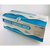3層 メディカルサージカルマスク 50枚入り 使い捨て不織布 PFE99%以上 BFE99%以上 VFE98.5%以上