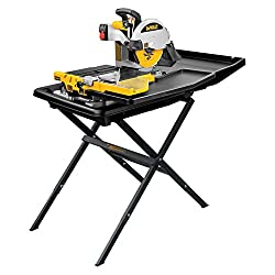 in budget affordable DEWALT wet tile saw, with stand, 10 inches (D24000S)
