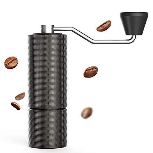 タイムモア TIMEMORE 栗子C2 手挽きコーヒーミル 手動式 コーヒーグラインダー ステンレス臼 粗さ調整可能 4色選択可 清掃しやすい coffee grinder 家庭用 省力性 ダイヤモンド (ブラック)