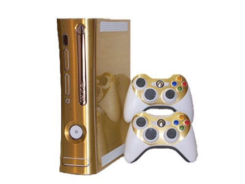 Brushed Gold - Air Release Vinyl Decal Faceplate Mod Skin Kit for Microsoft Xbox 360 Console by System Skins