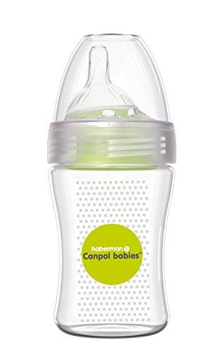 Canpol Babies Haberman - Biberón anticólicos, 260 ml